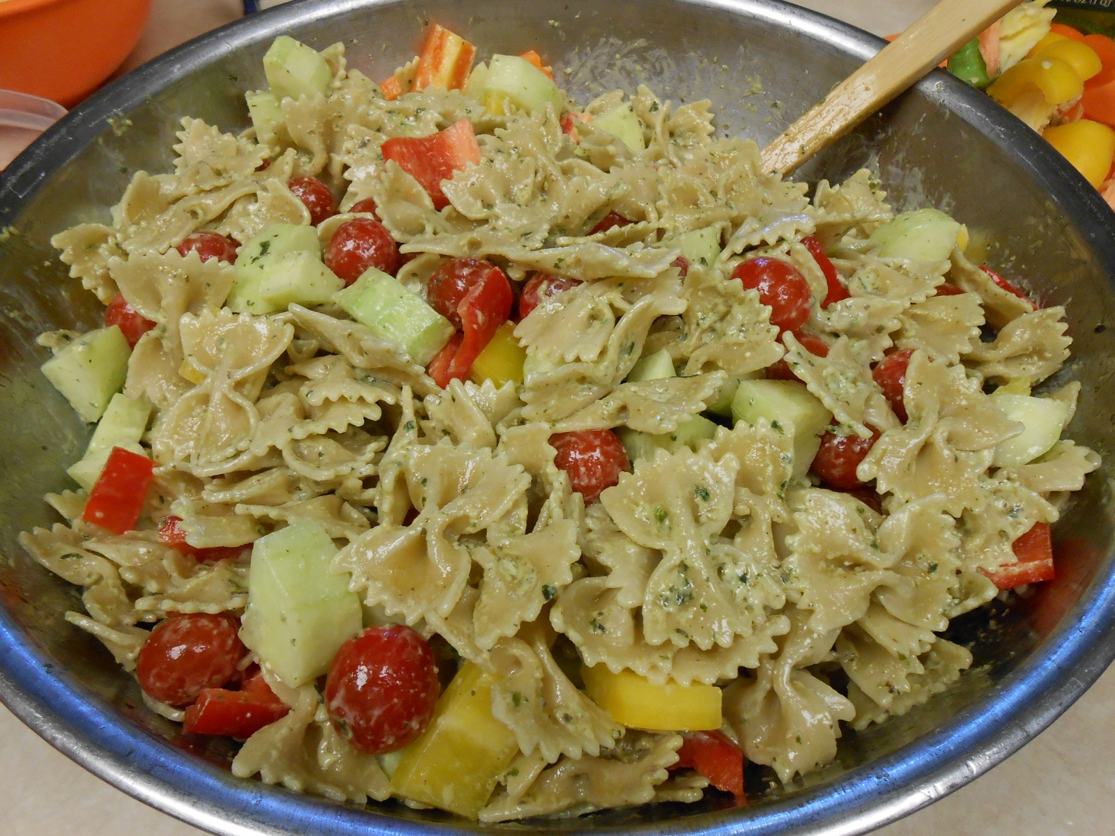 Mama's Magic Pesto Pasta Salad